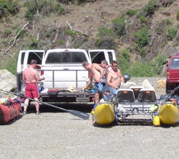 Private boaters on the Middle Fork American