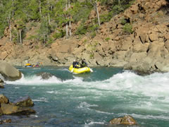 class III rapid on the Smith River in California