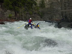 Class IV Rapid on the MIddle Fork of the Smith
