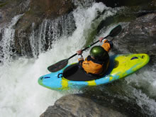 Kayaker on the South Fork of the Tuolumne in California