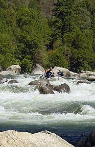 Rafting on California