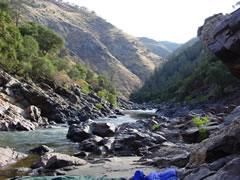 Camping on the Tuolumne River in California